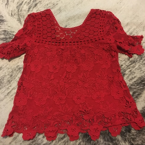 b7a20366dbd3a Anthropologie Tops - Anthropologie Vanessa Virginia Candace Lace Top